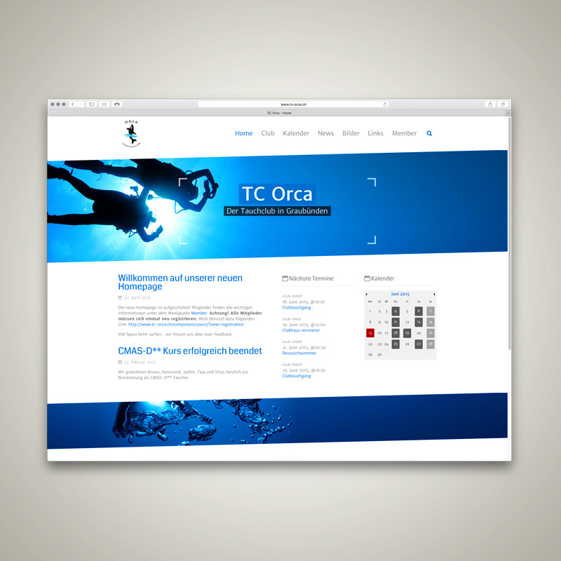 WEBSITE, Tauchclub Orca