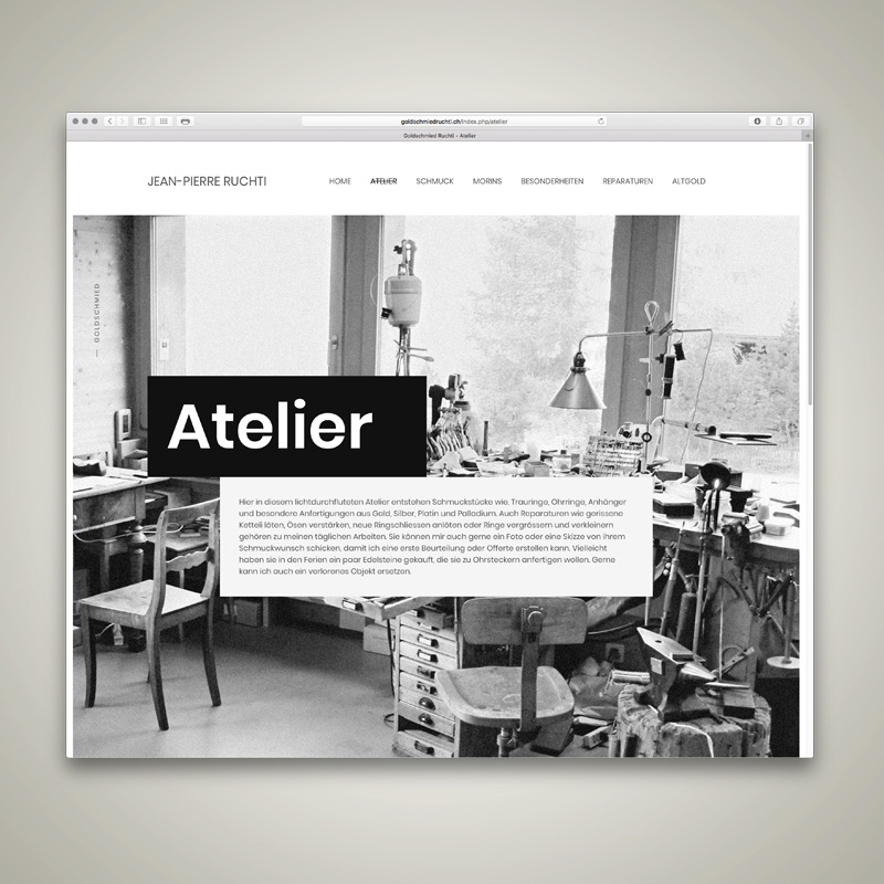 WEBSITE, Jean Pierre Ruchti, Goldschmied